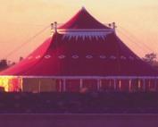 Circus Flora Tent in twilight